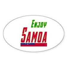 Enjoy Samoa Flag Designs Decal