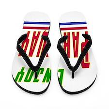 Enjoy Paraguay Flag Designs Flip Flops