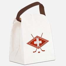 Schweiz Eishockey Logo Canvas Lunch Bag