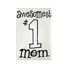 AwesomestMom Rectangle Magnet