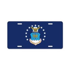 USAF Flag Aluminum License Plate