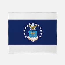 USAF Flag Throw Blanket