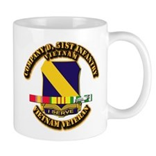 Army - Company D, 51st Infantry w SVC Ribbons Mug