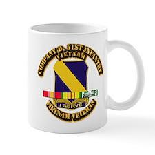Army - Company D, 51st Infantry w SVC Ribbons Mug