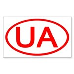 Ukraine - UA Oval Rectangle Sticker