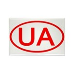 Ukraine - UA Oval Rectangle Magnet (100 pack)