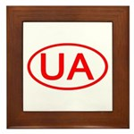 Ukraine - UA Oval Framed Tile