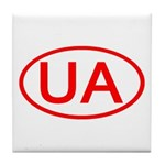 Ukraine - UA Oval Tile Coaster