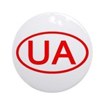 Ukraine - UA Oval Ornament (Round)