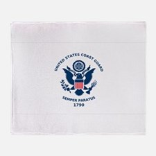 USCG Flag Throw Blanket