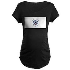 USCG Flag Maternity T-Shirt