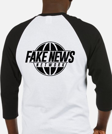 Fake News Network Distressed Baseball Tee