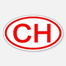 Switzerland - CH Oval Oval Decal