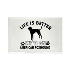 American Foxhound vector designs Rectangle Magnet