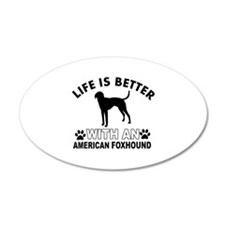 American Foxhound vector designs Wall Decal