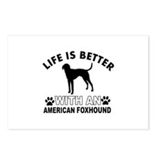 American Foxhound vector designs Postcards (Packag