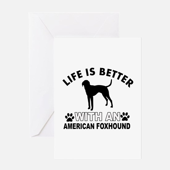American Foxhound vector designs Greeting Card