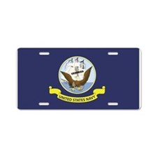 USN Flag Aluminum License Plate