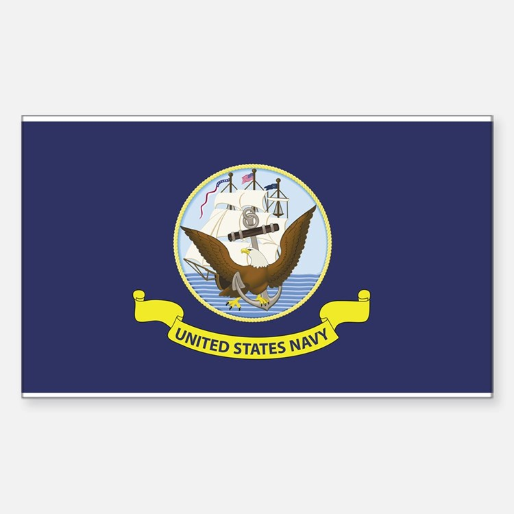 USN Flag Decal