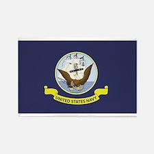 USN Flag Rectangle Magnet (10 pack)