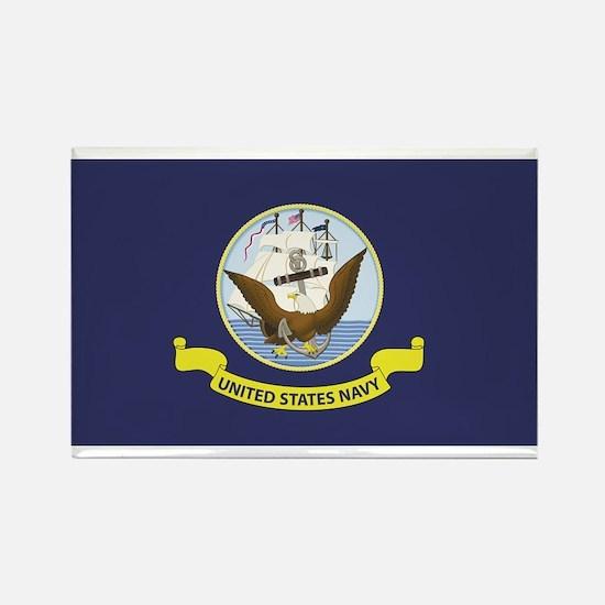 USN Flag Rectangle Magnet