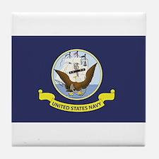 USN Flag Tile Coaster