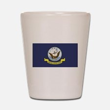 USN Flag Shot Glass
