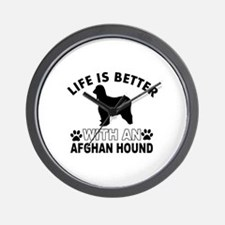 Afghan Hound vector designs Wall Clock
