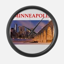 minneapolis Large Wall Clock