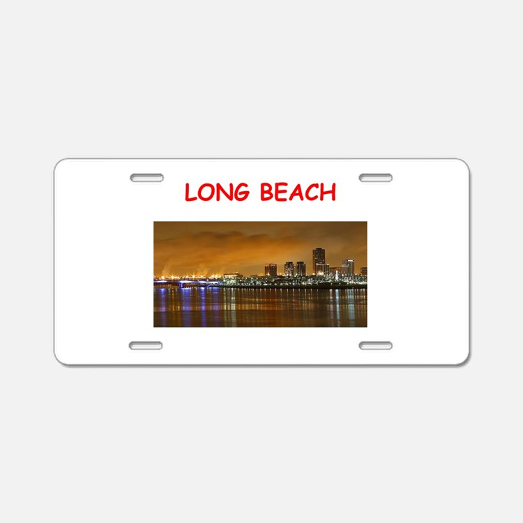 long beach Aluminum License Plate