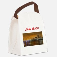 long beach Canvas Lunch Bag