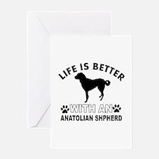 Anatolian Shepherd vector designs Greeting Card