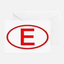 Spain - E Oval Greeting Cards (Pk of 10)