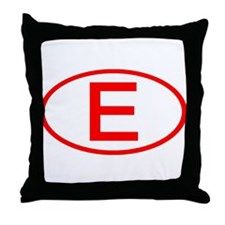 Spain - E Oval Throw Pillow