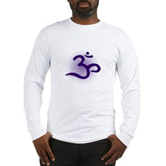 Purple Om Long Sleeve T-Shirt