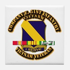 Army - Company E, 51st Infantry w SVC Ribbons Tile