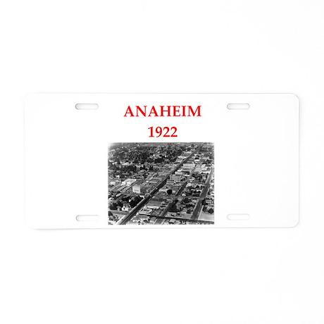 anaheim Aluminum License Plate