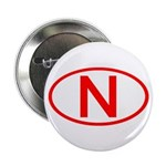 Norway - N Oval Button