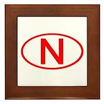 Norway - N Oval Framed Tile