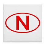 Norway - N Oval Tile Coaster