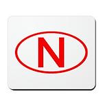 Norway - N Oval Mousepad