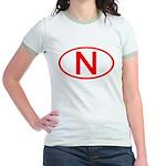 Norway - N Oval Jr. Ringer T-Shirt