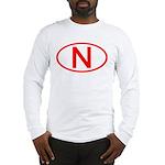 Norway - N Oval Long Sleeve T-Shirt