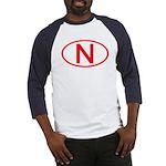 Norway - N Oval Baseball Jersey
