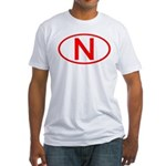 Norway - N Oval Fitted T-Shirt