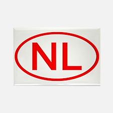 Netherlands - NL Oval Rectangle Magnet