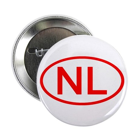 """Netherlands - NL Oval 2.25"""" Button (10 pack)"""