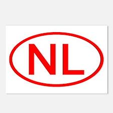 Netherlands - NL Oval Postcards (Package of 8)