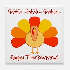 Happy Thanksgiving, Turkey Tile Coaster