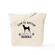 Basenji vector designs Tote Bag